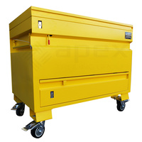 Yellow Iron Steel Site Box With Drawer 1220mm(L) x 760mm(W) x 1060mm(H)